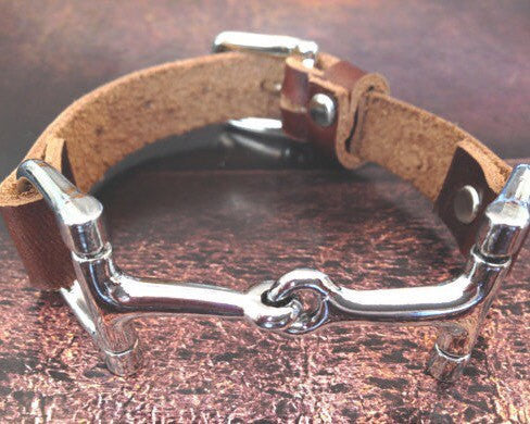 Leather Wrap Equestrian Bracelet B3912 | Ideana