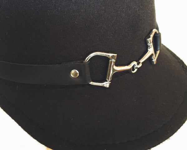 Classic Cloche Hat Clochette Women Cloche Hats Equestrian Cloche Hat Vintage Style Hats Hat Shop fancied up with a snaffle bit