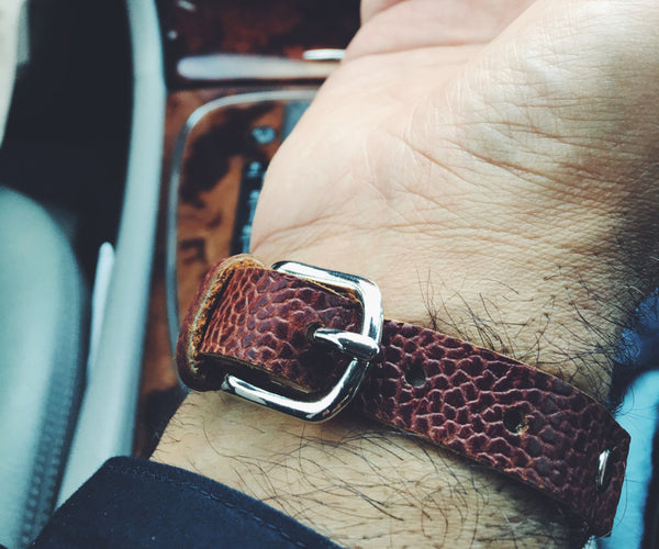 Men's Brown Leather Bracelet, Equestrian Snaffle Bit Bracelet, Men's Bracelet, Men's Jewelry, Leather Bracelet, Men's Gift