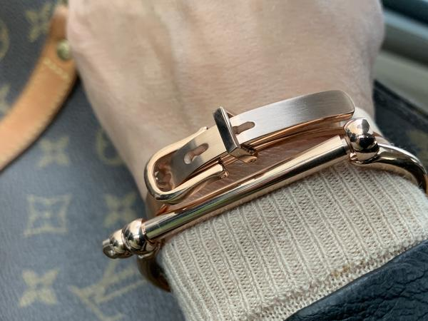 Horseshoe & Belt Buckle Bracelet Cuff Gift Set    | Ideana