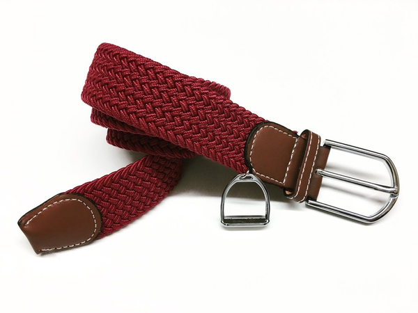 Woven Equestrian Belt with Stirrup Charm B2906 | Ideana