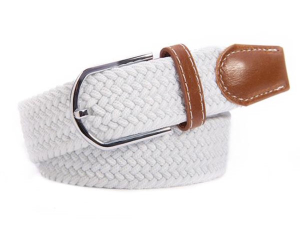 Elasticated Woven Belt, Equestrian Style, featuring Horse Stirrup by Ideana - C1