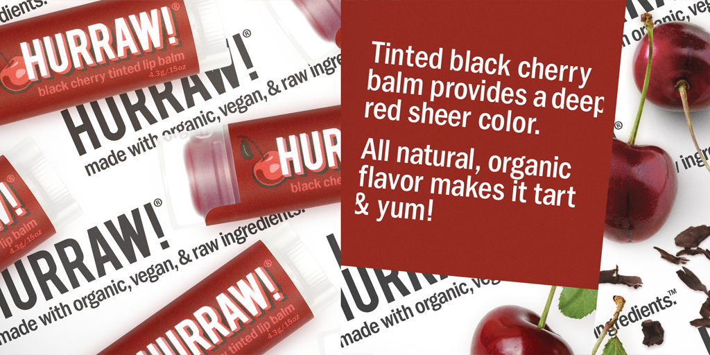 Hurraw! Black Cherry Tinted Lip Balm 4.3g - One Fine Secret