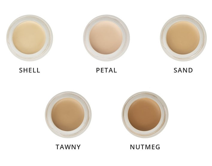 Inika Full Coverage Concealer Shade Finder. 5 Shades available.