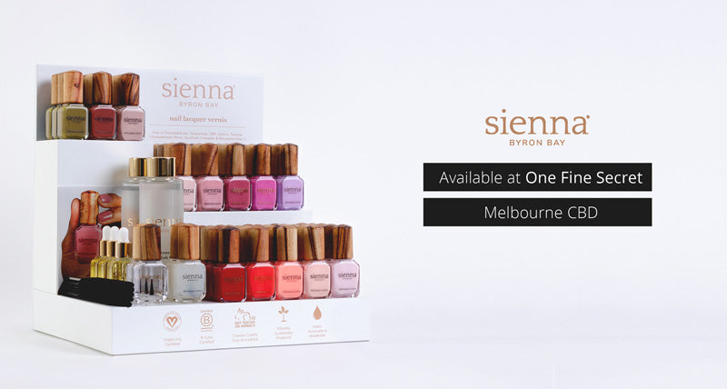 Sienna Byron Bay Nail Polishes Now Available In Store. One Fine Secret Australian Stockist in Melbourne