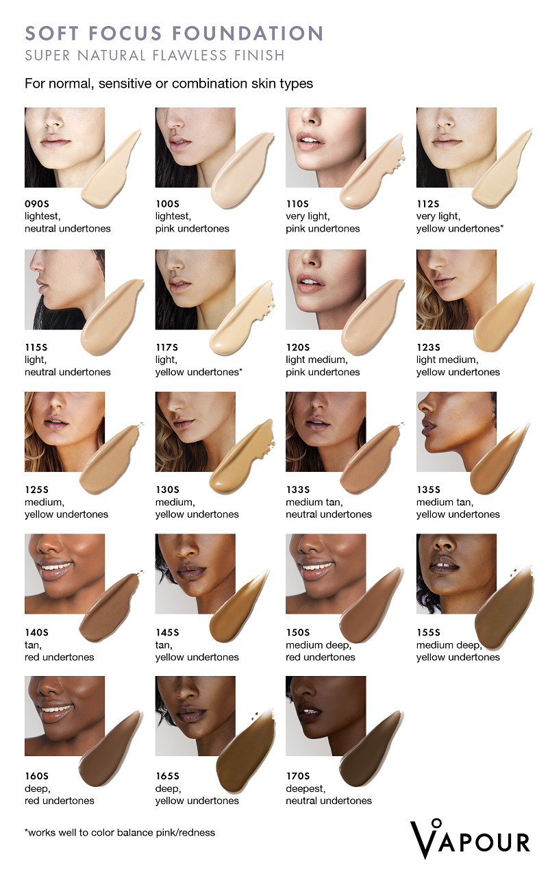 Find your perfect Vapour Organic Beauty NEW Soft Focus Foundation Shade at One Fine Secret!