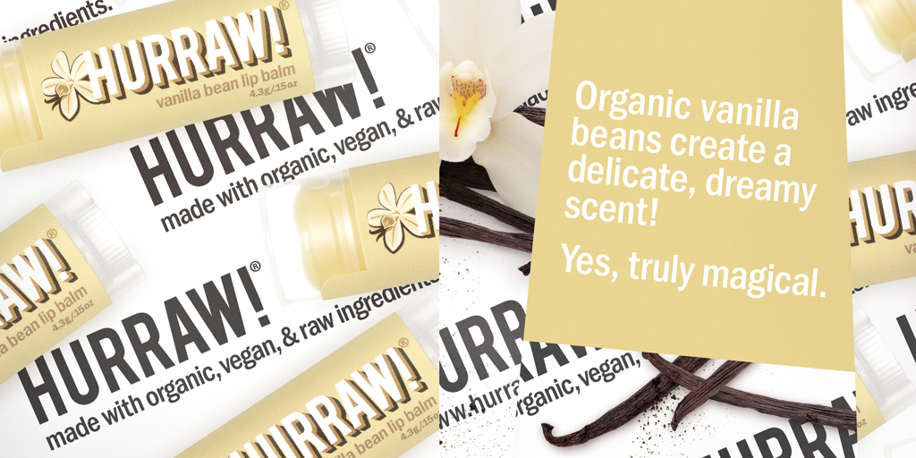 Hurraw! Vanilla Bean Lip Balm 4.3g - One Fine Secret