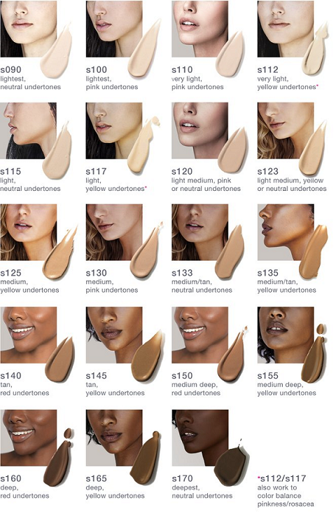 What is your foundation shade? Refer to this shade chart of Vapour Beauty Atmosphere Soft Focus Foundation.
