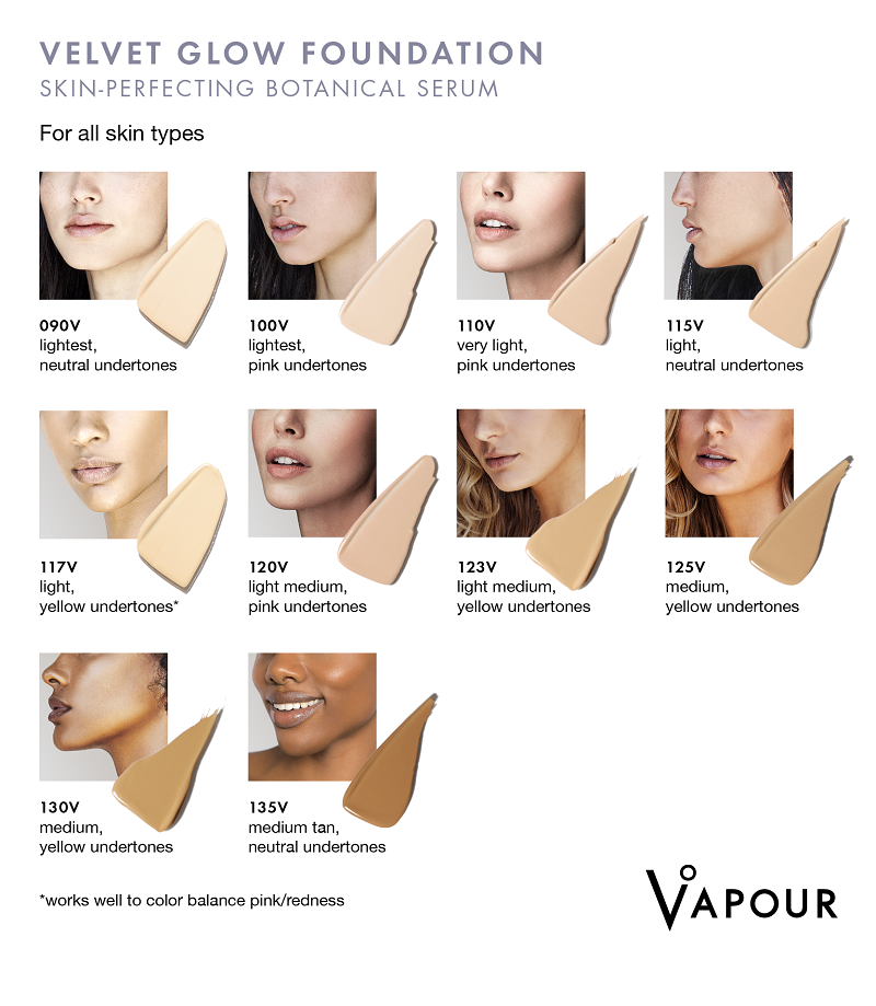 Find your perfect Vapour Beauty Velvet Glow Foundation shade at One Fine Secret!