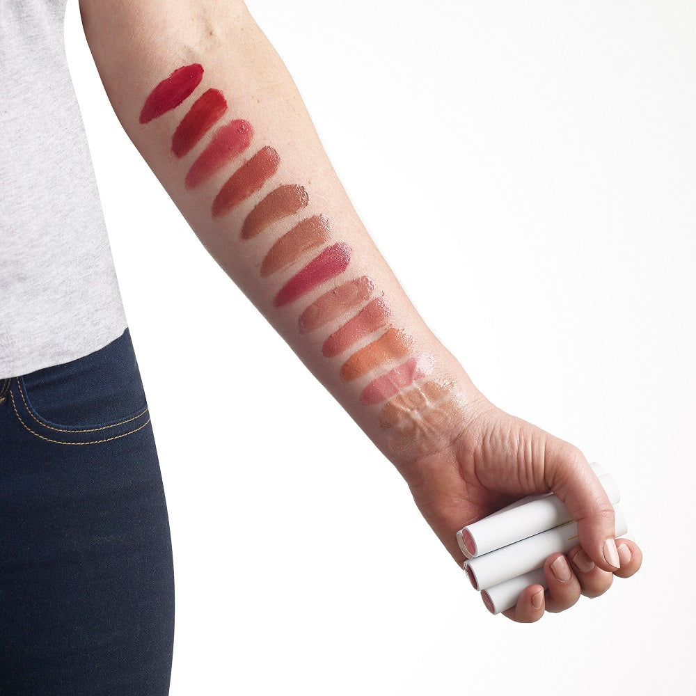 Colour Shade Chart. Luk Beautifood Lipstick Lip Nourish 14 Shades available at One Fine Secret. Buy 3g full size lip or sample pot to try now.