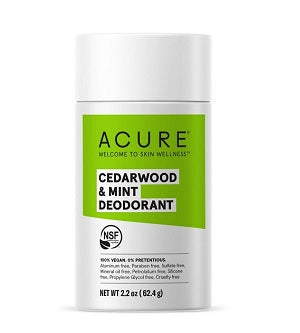 Buy Acure Deodorant Cedarwood & Mint 63g at One Fine Secret. Natural & Organic Skin & Body Care Beauty Store in Melbourne, Australia.