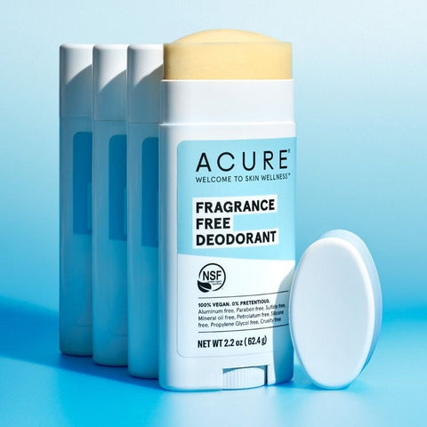 Buy Acure Deodorant Fragrance Free 63g at One Fine Secret. Natural & Organic Skin & Body Care Beauty Store in Melbourne, Australia.