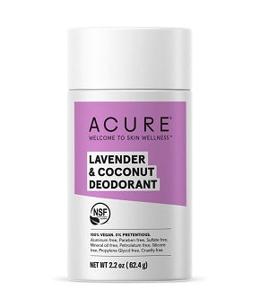 Buy Acure Deodorant Lavender & Coconut 63g at One Fine Secret. Natural & Organic Skin & Body Care Beauty Store in Melbourne, Australia.