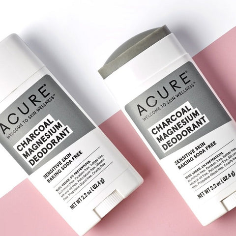 Buy Acure Baking Soda Free Deodorant Charcoal Magnesium for Sensitive Skin at One Fine Secret. Acure skin and body care retail store in Melbourne, Australia.