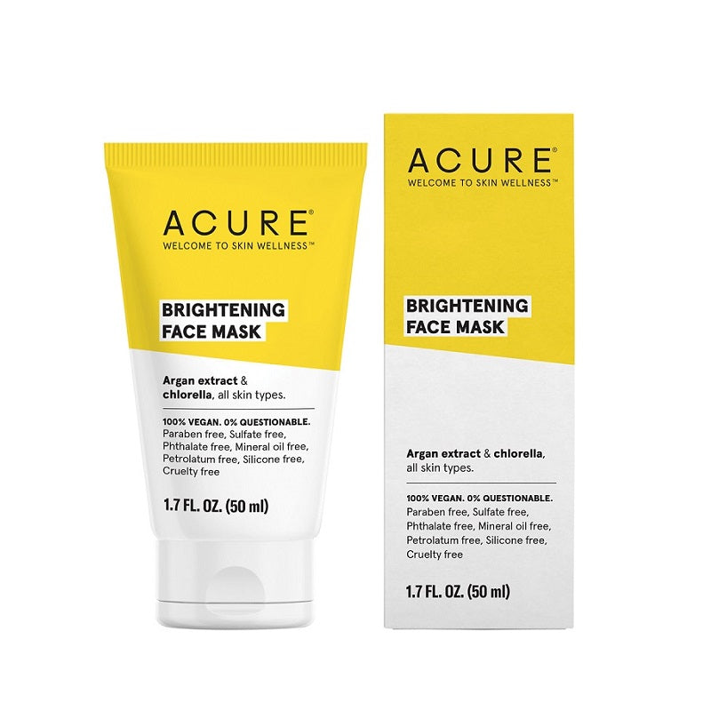 Natural & Organic Face Mask. Buy Acure Brilliantly Brightening Face Mask 50ml at One Fine Secret. Natural & Organic Skincare Store in Melbourne, Australia.