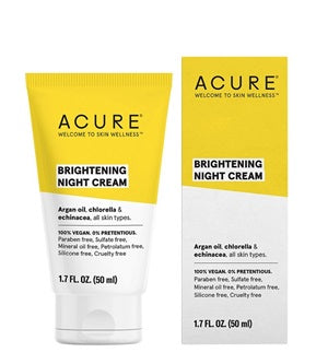 Natural & Organic Night Cream. Acure Brilliantly Brightening Night Cream 50ml - One Fine Secret