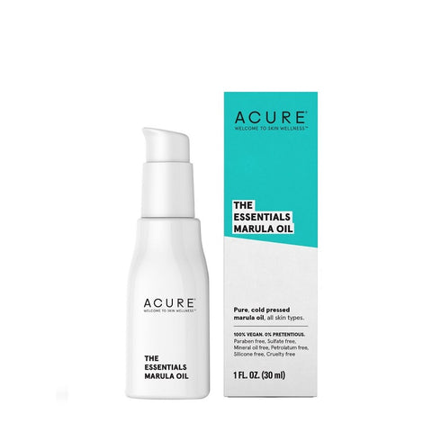 Natural & Organic Face Oil. Acure The Essentials Marula Oil 30ml - One Fine Secret