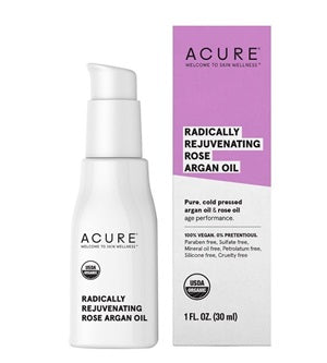 Buy Acure Radically Rejuvenating Rose Argan Oil at One Fine Secret. Natural & Organic Skincare Store in Melbourne, Australia.
