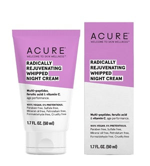 Buy Acure Radically Rejuvenating Whipped Night Cream at One Fine Secret. Natural & Organic Skincare Store in Melbourne, Australia.
