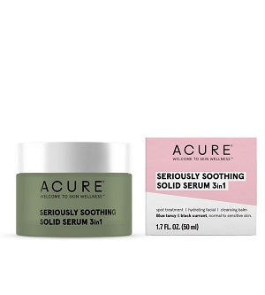Buy Acure Seriously Soothing 3 in 1 Solid Serum at One Fine Secret. Natural & Organic Skincare Store in Melbourne, Australia.