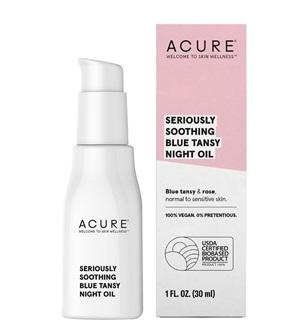 Buy Acure Seriously Soothing Blue Tansy Night Oil at One Fine Secret. Natural & Organic Skincare Store in Melbourne, Australia.