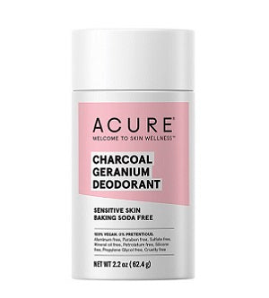 Buy Acure Baking Soda Free Deodorant Charcoal Geranium for Sensitive Skin at One Fine Secret. Acure skincare and body care stockist in Melbourne, Australia.