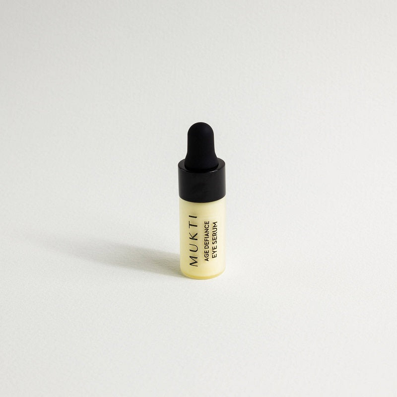 Australian Certified Organic Skincare. Try Mukti Age Defiance Eye Serum 3ml at One Fine Secret, Natural & Organic Skincare Makeup Clean Beauty Store Melbourne Australia
