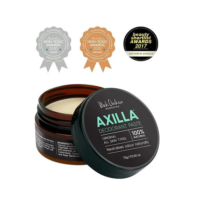 Shop Award Winning Black Chicken Axilla Natural Deodorant Paste at One Fine Secret now! Natural & Organic Skincare and Makeup. Clean Beauty Store in Melbourne, Australia