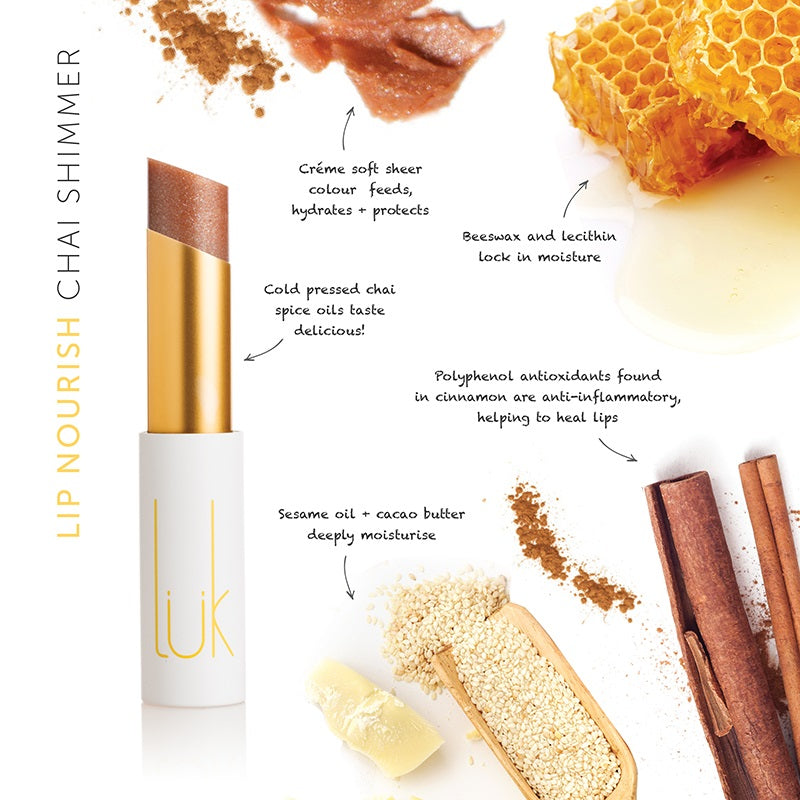 Buy Luk Beautifood Lip Nourish Lipstick in Chai colour at One Fine Secret. Luk Beautifood Official Australia Stockist in Melbourne.
