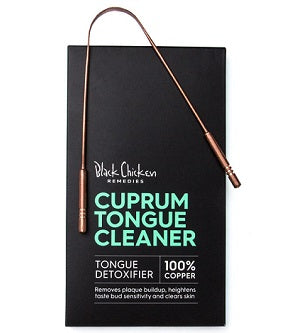 Black Chicken 100% Copper Cuprum Tongue Cleaner | One Fine Secret Melb