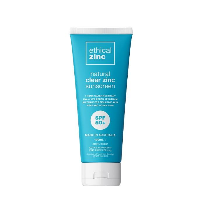 Official Australian Stockist. Buy Ethical Zinc SPF50+ Natural Clear Zinc Sunscreen at One Fine Secret. Natural & Organic Skincare Store in Melbourne, Australia.