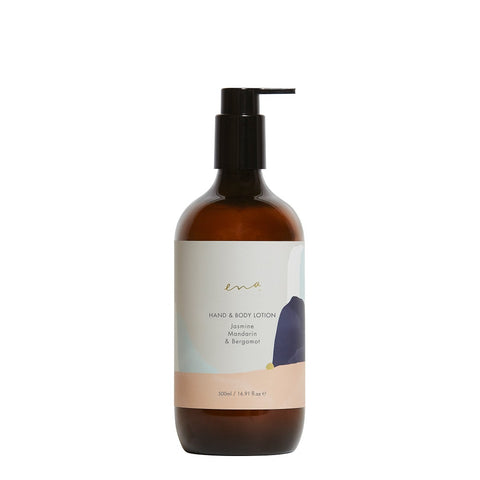 Clean Beauty Body Care. Ena Hand & Body Lotion - Jasmine, Mandarin & Bergamot 500ml - One Fine Secret