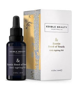 Edible Beauty Face Oil Buy Edible Beauty & Exotic Seed of Youth Anti-Ageing Oil 20ml at One Fine Secret. Official Stockist in Melbourne, Australia.