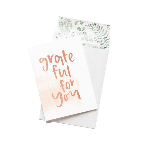 Emma Kate Co. Greeting Card - Grateful For You. Clean Beauty Store One Fine Secret