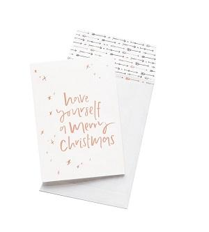 Emma Kate Co. Greeting Card - Have Yourself A Merry Christmas. Clean Beauty Store One Fine Secret