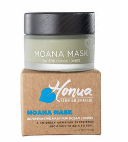 Hawaiian Clean Green Beauty Face Mask. Buy Honua Moana Mask 50ml at One Fine Secret. Natural Organic Skincare & Makeup Clean Beauty Store in Melbourne, Australia.