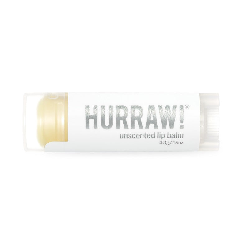 Premium raw organic lip balm. Hurraw! Unscented Lip Balm 4.3g - One Fine Secret