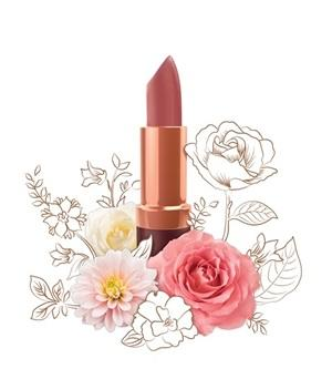 Natural Lip Makeup. Karen Murrell Natural Lipstick - Blushing Rose. Discover Clean Beauty at One Fine Secret!