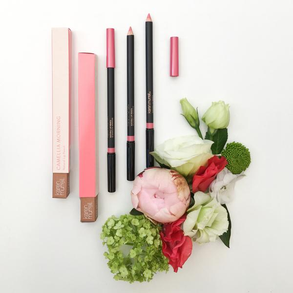 Natural Lip Makeup. Karen Murrell Natural Lip Pencil - Camellia Morning. Discover Clean Beauty at One Fine Secret!
