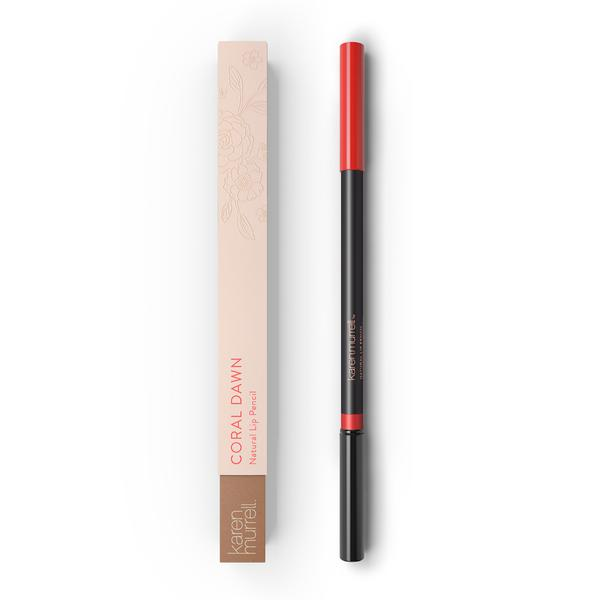 Natural Lip Makeup. Karen Murrell Natural Lip Pencil - Coral Dawn. Discover Clean Beauty at One Fine Secret!
