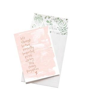 Emma Kate Co. Greeting Card - Let's Always Be Two Imperfect People. Clean Beauty Store One Fine Secret