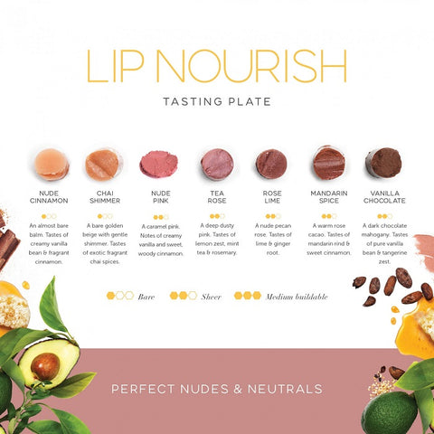 Luk Beautifood Nudes & Neutrals 7 Shades Sample | One Fine Secret Melb