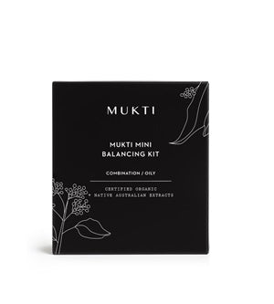Buy Mukti Mini Balancing Kit (Violet Glass Bottle 15ml each) at One Fine Secret. Natural & Organic Skincare Store in Melbourne, Australia.