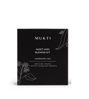 Mukti Organics' Official Australian Stockist in Melbourne. Buy Mukti Mini Blemish Kit at One Fine Secret.