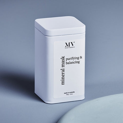 Buy MV Skintherapy Purifying & Balancing Mineral Mask 100g Tin at One Fine Secret. MV Skincare Official Stockist in Melbourne, Australia.
