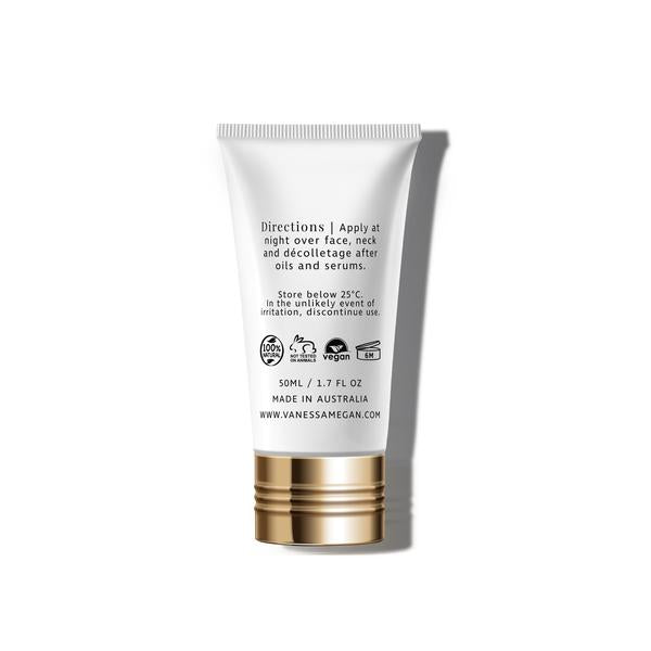 100% Natural Australian Skincare. Buy Vanessa Megan Marine Collagen Firming Night Cream 50ml at One Fine Secret. Natural & Organic Skincare Store in Melbourne, Australia.