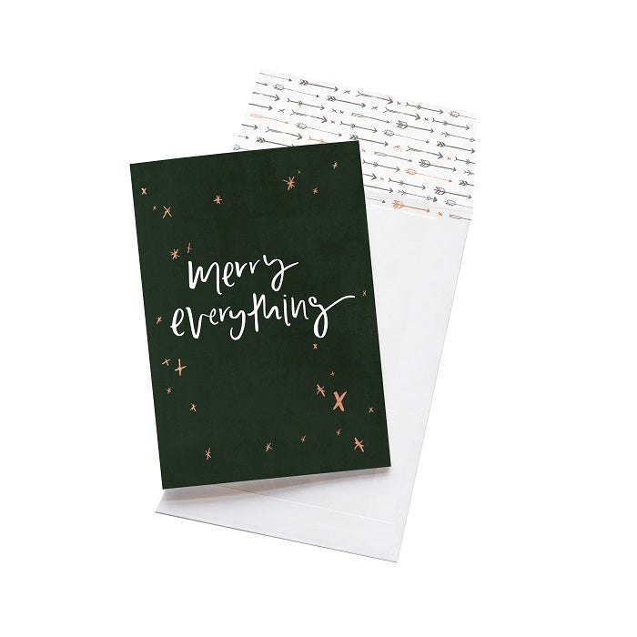 Emma Kate Co. Greeting Card - Merry Everything. Clean Beauty Store One Fine Secret