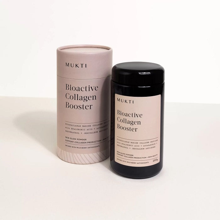 Inner Beauty Powder. Buy Mukti Bioactive Marine Collagen Booster Powder 200g Bottle at One Fine Secret. Mukti's Official Stockist in Melbourne, Australia.