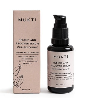 Buy Mukti Calming Rescue And Recover Serum at One Fine Secret now. Mukti Organics Skincare Official AU Stockist in Melbourne.