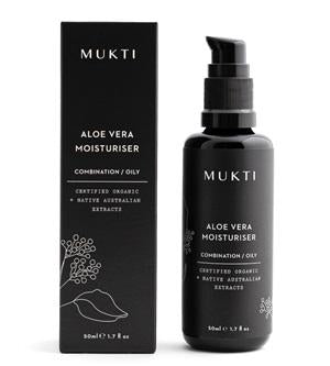 Australian Certified Organic Skincare. Shop Mukti Aloe Vera Moisturiser 50ml at One Fine Secret, Natural & Organic Skincare Makeup Clean Beauty Store Melbourne Australia